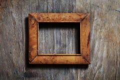 Frame vazio no fundo de madeira Imagem de Stock Royalty Free