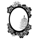 Frame vector design illustration black and white color card Royalty Free Stock Photography