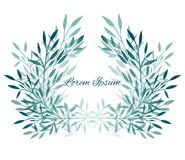 Frame vector leaves, plants and branches with space for text Stock Images
