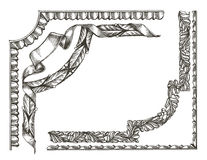 Frame vector logo design template. ornament or Royalty Free Stock Images