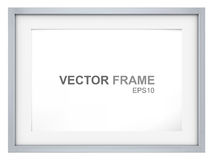 Frame. Vector Picture Frame made of steel. Copy Space Royalty Free Stock Photos