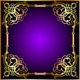 Frame with vegetable and gold(en) pattern Stock Photo