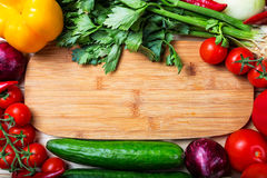 Frame of vegetables. Close up royalty free stock photos