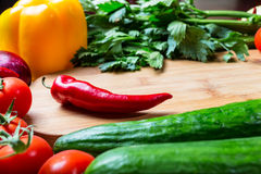Frame of vegetables Royalty Free Stock Image
