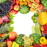 Frame of vegetables and fruits Stock Images