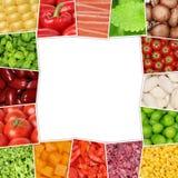 Frame from vegetables like tomatoes, paprika, lettuce, mushrooms Stock Image