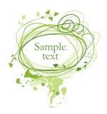 Frame verde ilustração royalty free