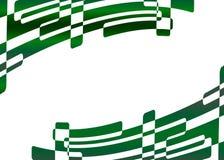 Frame verde abstrato Fotografia de Stock