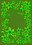 Frame verde das flores. ilustração stock
