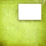Frame verde de veludo Fotos de Stock