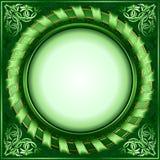 Frame verde do círculo do vintage com fita ilustração do vetor