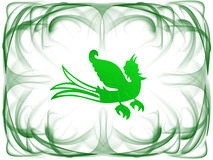 Frame verde do pássaro ilustração do vetor
