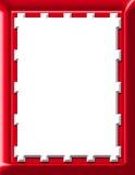 Frame vermelho ilustração do vetor