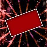 Frame vermelho de Grunge Ilustração do Vetor