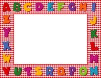 Frame vermelho do alfabeto do guingão Fotografia de Stock Royalty Free