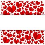 Frame vermelho do coração Fotos de Stock Royalty Free