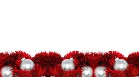 Frame vermelho do correio do Natal fotos de stock