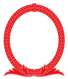 Frame vermelho do espelho Ilustração do Vetor