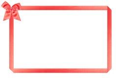 Frame vermelho do feriado imagens de stock
