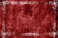 Frame vermelho do grunge ilustração stock