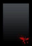 Frame vermelho do papel do acordo Imagens de Stock Royalty Free
