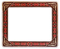 Frame vermelho e bege antigo Foto de Stock Royalty Free