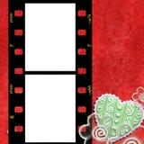 Frame vermelho para duas fotos do amor Foto de Stock Royalty Free