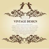 Frame-vetor floral do vetor Imagens de Stock Royalty Free