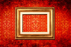 Frame victorian wallpaper Royalty Free Stock Image