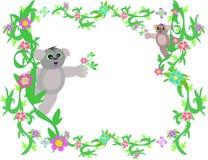 Frame of Vines and Koala Bears Stock Photos