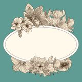 Frame with vintage flowers Royalty Free Stock Photo