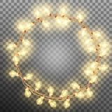 Frame with vintage garlands. EPS 10. Vector file included Royalty Free Stock Photography