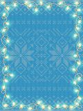 Frame with vintage garlands. EPS 10. Vector file included Stock Images