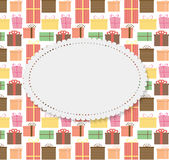 Frame in Vintage Gift Box Background. Vector Royalty Free Stock Photography