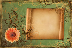 Frame on vintage green paper Royalty Free Stock Photography