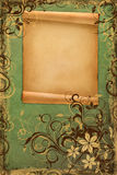 Frame on vintage green paper Stock Image