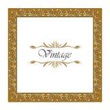 Frame Vintage Old Ornament. Ornamental border frame vintage Royalty Free Stock Images