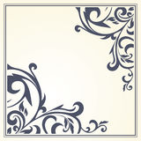 Frame with vintage pattern.Background with floral design. Stock Photo