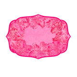 Frame vintage of pink rhododendrons vector Royalty Free Stock Image