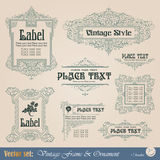 Frame in vintage style Stock Images