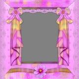 Frame violeta com florets Fotografia de Stock