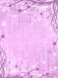 Frame violeta com testes padrões florais Fotografia de Stock Royalty Free