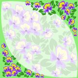 Frame of violets Stock Image