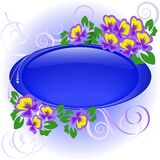 Frame with violets Royalty Free Stock Photo