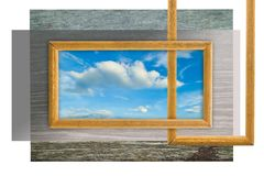 Frame of vision Stock Image