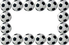 Frame voetbalballen royalty-vrije illustratie