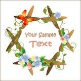 Frame voor beeld met bloemen stock illustratie