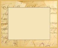 Frame voor een beeld van oude brieven Stock Afbeelding