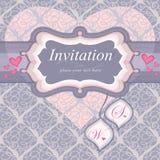 Frame voor een uitnodiging in roze. Gebruikt voor de rug royalty-vrije illustratie