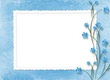 Frame voor foto's op de abstracte achtergrond Stock Afbeelding